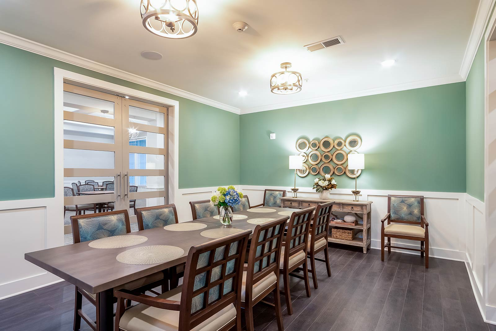 Private dining room for special occasions in our Plant City FL assisted living and memory care community