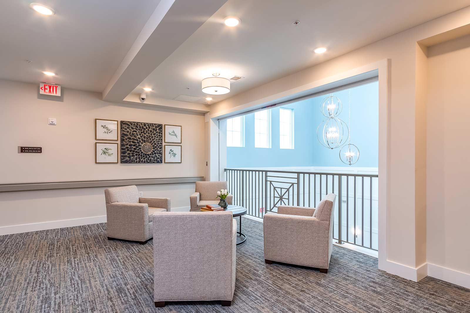 Quiet gathering area in our Plant City FL assisted living and memory care community