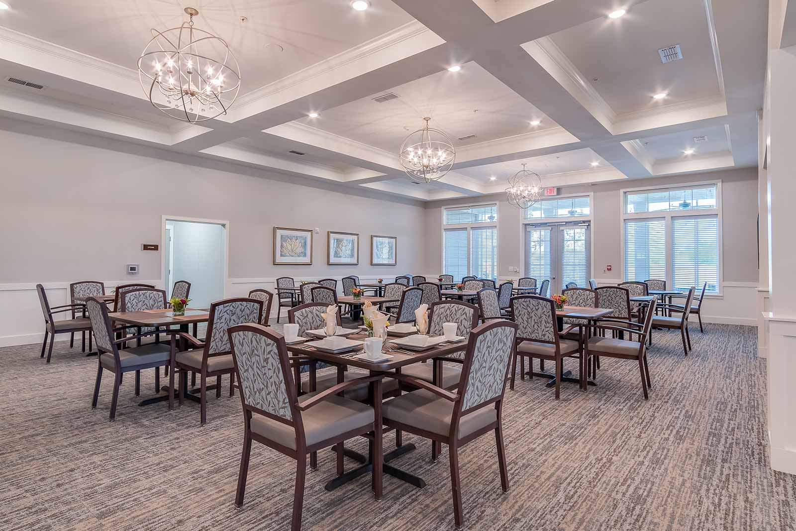 Elegant restaurant-style dining room in our Plat City FL assisted living and memory care community